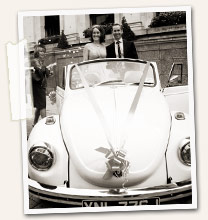 Krisse & Ben with their wedding bug