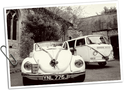 VW Beetle and VW Camper Wedding hire
