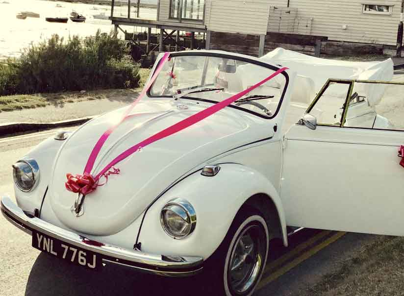 Billy, a triple white Karmann Beetle cabriolet