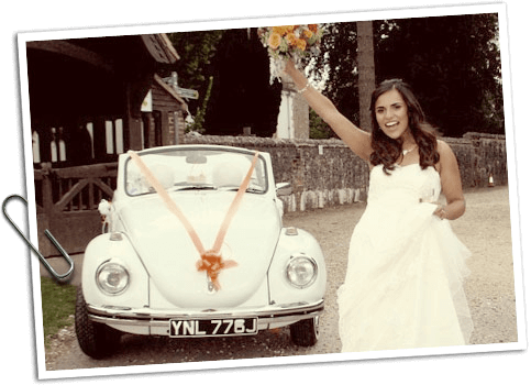 VW Beetle Wedding hire